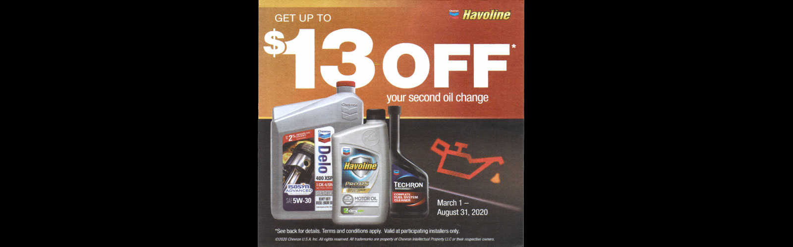 Havoline / Chevron Rebate